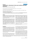 "Báo cáo y học: ""Staffing level: a determinant of late-onset ventilator-associated pneumonial"""