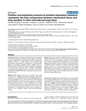 """Báo cáo y học: """"Positive end-expiratory pressure at minimal respiratory elastance represents the best compromise between mechanical stress and lung aeration in oleic acid induced lung injury"""""""