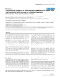 """Báo cáo y học: """"Longitudinal increases in mitochondrial DNA levels in blood cells are associated with survival in critically ill patients"""""""