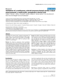 """Báo cáo y học: """"Validation of a continuous, arterial pressure-based cardiac output measurement: a multicenter, prospective clinical trial"""""""