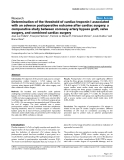 """Báo cáo y học: """" Determination of the threshold of cardiac troponin I associated with an adverse postoperative outcome after cardiac surgery: a comparative study between coronary artery bypass graft, valve surgery, and combined cardiac surgery"""""""