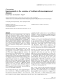 "Báo cáo y học: ""Improvements in the outcome of children with meningococcal disease"""