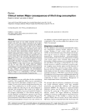 "Báo cáo y học: ""Clinical review: Major consequences of illicit drug consumption"""