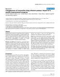 """Báo cáo y học: """"Changeovers of vasoactive drug infusion pumps: impact of a quality improvement program"""""""