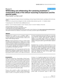 """Báo cáo khoa học: """"Withholding and withdrawing life-sustaining treatment: a comparative study of the ethical reasoning of physicians and the general public"""""""