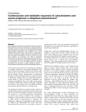 "Báo cáo y học: ""Cardiovascular and metabolic responses to catecholamine and sepsis prognosis: a ubiquitous phenomenon"""