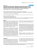 "Báo cáo y học: ""Intratracheal dopamine attenuates pulmonary edema and improves survival after ventilator-induced lung injury in rats"""