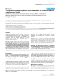 "Báo cáo y học: ""Formulas Vasopressin and epinephrine in the treatment of cardiac arrest: an experimental study"""