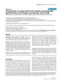 "Báo cáo y học: ""Development of a triage protocol for patients presenting with gastrointestinal hemorrhage: a prospective cohort study"""