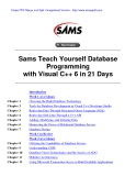 Sams Teach Yourself Database Programming with Visual C++ 6 in 21 Days phần  1