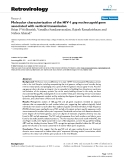 """Báo cáo y học: """"  Molecular characterization of the HIV-1 gag nucleocapsid gene associated with vertical transmission"""""""