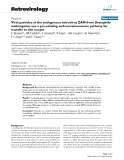 "Báo cáo y học: "" Viral particles of the endogenous retrovirus ZAM from Drosophila melanogaster use a pre-existing """