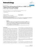 """Báo cáo y học: """"  Impact of the 16th International Conference on AIDS: can these conferences lead to policy change?"""""""