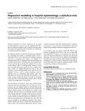 """Báo cáo y học: """"Regression modelling in hospital epidemiology: a statistical note"""""""
