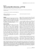 """Báo cáo y học: """"Year in review 2007: Critical Care – cardiology"""""""