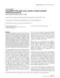 """Báo cáo y học: """"Using MRI of the optic nerve sheath to detect elevated intracranial pressure"""""""