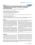 "Báo cáo y học: ""Partial pressure of end-tidal carbon dioxide successful predicts cardiopulmonary resuscitation in the field: a prospective observational study"""