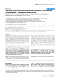 "Báo cáo y học: ""Pituitary-adrenal function in patients with acute subarachnoid haemorrhage: a prospective cohort study"""