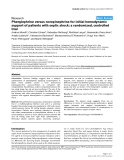 """Báo cáo y học: """"Phenylephrine versus norepinephrine for initial hemodynamic support of patients with septic shock: a randomized, controlled tria"""""""