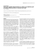"Báo cáo y học: ""Natriuretic peptide determinations in critical care medicine: part of routine clinical practice or research test only"""