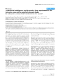 "Báo cáo y học: ""An artificial intelligence tool to predict fluid requirement in the intensive care unit: a proof-of-concept study"""