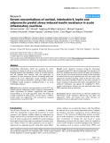 "Báo cáo y học: ""Serum concentrations of cortisol, interleukin 6, leptin and adiponectin predict stress induced insulin resistance in acute inflammatory reaction"""