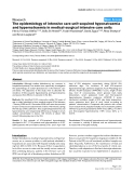 "Báo cáo y học: ""The epidemiology of intensive care unit-acquired hyponatraemia and hypernatraemia in medical-surgical intensive care unit"""