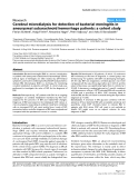 """Báo cáo y học: """"Cerebral microdialysis for detection of bacterial meningitis in aneurysmal subarachnoid hemorrhage patients: a cohort study"""""""