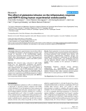 "Báo cáo y học: ""The effect of glutamine infusion on the inflammatory response and HSP70 during human experimental endotoxaemia"""