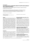 "Báo cáo y học: ""Conceptual issues specifically related to health-related quality of life in critically ill patients"""