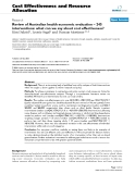 """Bóa cáo y học: """"Review of Australian health economic evaluation – 245 interventions: what can we say about cost effectiveness"""""""