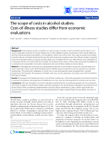 """Báo cáo y học: """"The scope of costs in alcohol studies: Cost-of-illness studies differ from economic evaluations"""""""