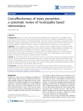 """Báo cáo y học: """"Cost-effectiveness of injury prevention a systematic review of municipality based interventions"""""""