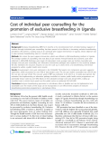 "Báo cáo y học: ""Cost of individual peer counselling for the promotion of exclusive breastfeeding in Uganda"""