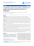 """Báo cáo y học: """"A systematic review of economic evaluations of health and health-related interventions in Bangladesh"""""""