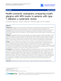 """Báo cáo y học: """"Health economic evaluations comparing insulin glargine with NPH insulin in patients with type 1 diabetes: a systematic review"""""""