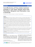 "Báo cáo y học: ""Cost-effectiveness of three malaria treatment strategies in rural Tigray, Ethiopia where both Plasmodium falciparum and Plasmodium vivax co-dominate"""