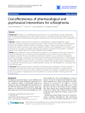"Báo cáo y học: ""Cost-effectiveness of pharmacological and psychosocial interventions for schizophrenia"""