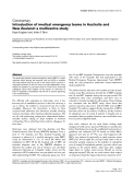 """Báo cáo y học: """"Introduction of medical emergency teams in Australia and New Zealand: a multicentre study"""""""