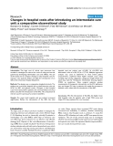 "Báo cáo y học: ""Changes in hospital costs after introducing an intermediate care unit: a comparative observational study"""