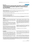 "Báo cáo y học: ""Randomized trial comparing daily interruption of sedation and nursing-implemented sedation algorithm in medical intensive care unit patients"""