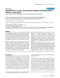 "Báo cáo y học: ""Quantification of lean and fat tissue repletion following critical illness: a case report"""