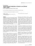 """Báo cáo y học: """"Opioid-induced constipation in intensive care patients: relief in sigh"""""""
