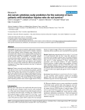 "Báo cáo y học: ""Are serum cytokines early predictors for the outcome of burn patients with inhalation injuries who do not survive"""