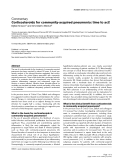 """Báo cáo y học: """"Corticosteroids for community-acquired pneumonia: time to act"""""""