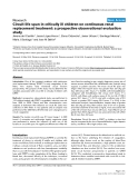 "Báo cáo y học: ""Circuit life span in critically ill children on continuous renal replacement treatment: a prospective observational evaluation study"""
