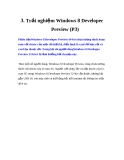 3. Trải nghiệm Windows 8 Developer Preview (P3)