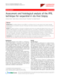"Báo cáo y học: "" Assessment and histological analysis of the IPRL technique for sequential in situ liver biopsy"""