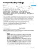 """Báo cáo y học: """"A prospective assessment of the inter-laboratory variability of biochemical markers of fibrosis (FibroTest) and activity (ActiTest) in patients with chronic liver disease"""""""
