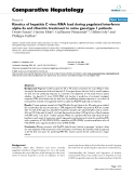 "Báo cáo y học: "" Kinetics of hepatitis C virus RNA load during pegylated interferon alpha-2a and ribavirin treatment in naïve genotype 1 patients"""